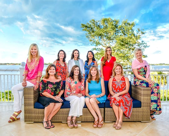 Sea of Hope Committee members available to be photographed, from left, seated, front row, Julie Breen, Lynette Groves, Caroline Hill and Pamela Quinn; back row, Emily McClellan, Deana Peterson, Stephanie McLaughlin, Priscilla McGlynn, Brooke Grogan and Nannette Walsh.
