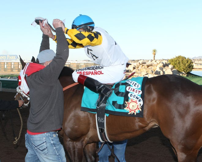 Jesies First Down won the Grade 1, 440-yard The Championship at Sunland Park on Sunday.