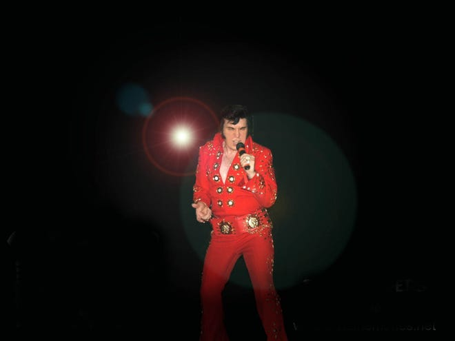 Bud Sanders has been an impersonator of Elvis Presley along the border since the 1970s.