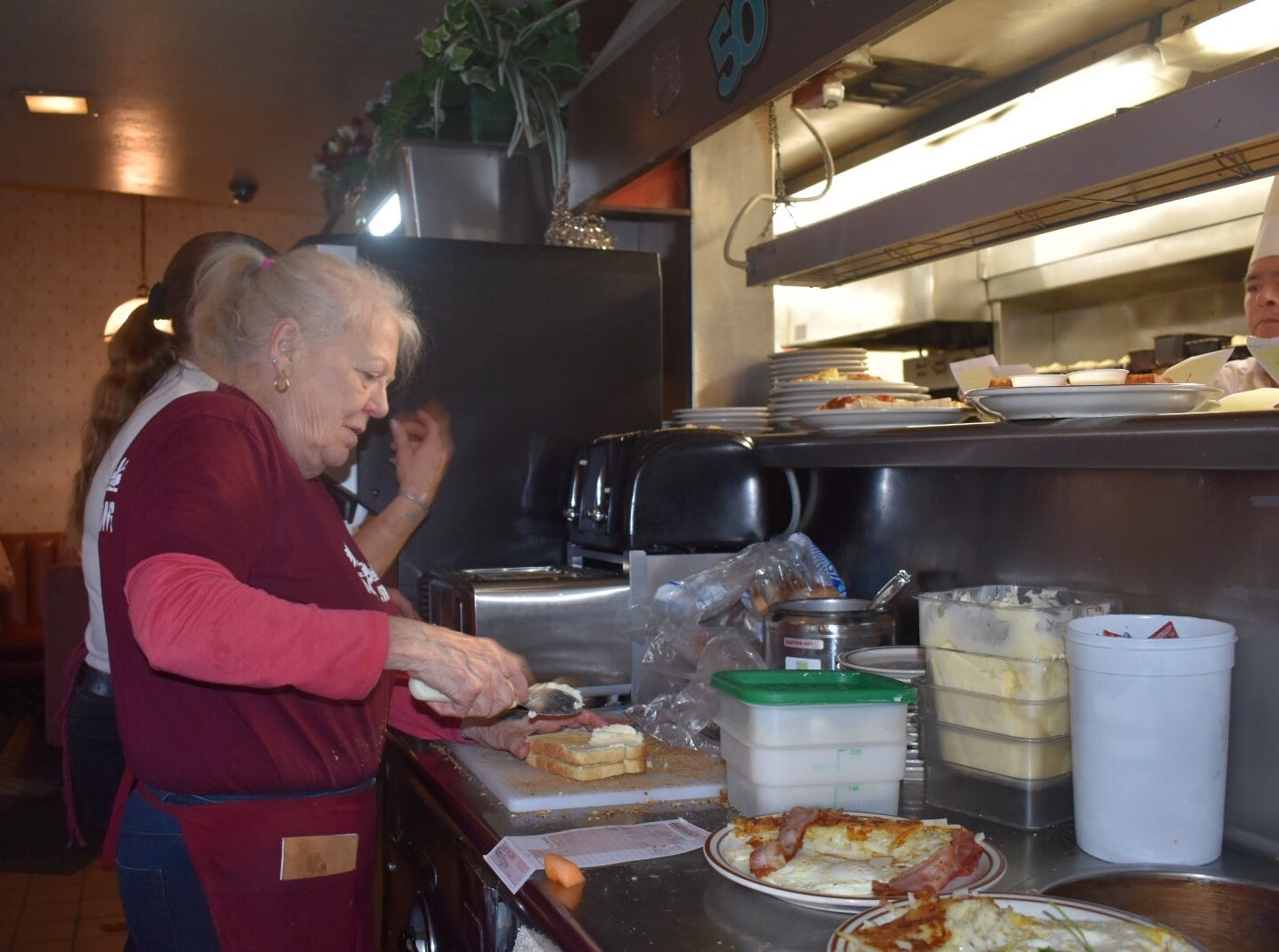 """Sharon Antonsen, 75, Ojai, isn't sure about her future in the wake of the closing of Ventura's Vagabond Restaurant after 52 years. """"I don't know what this old broad is going to do,"""" the longtime waitress said."""