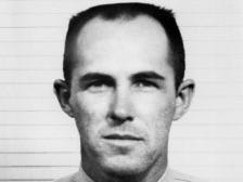 """Sheriff's Deputy Chester """"Chico"""" Larson was stationed in Lockwood Valley when he drowned, along with three other men and six boys, during an attempted rescue along flooded Sespe Creek. The road now leading to the Lockwood Valley station is named after him."""