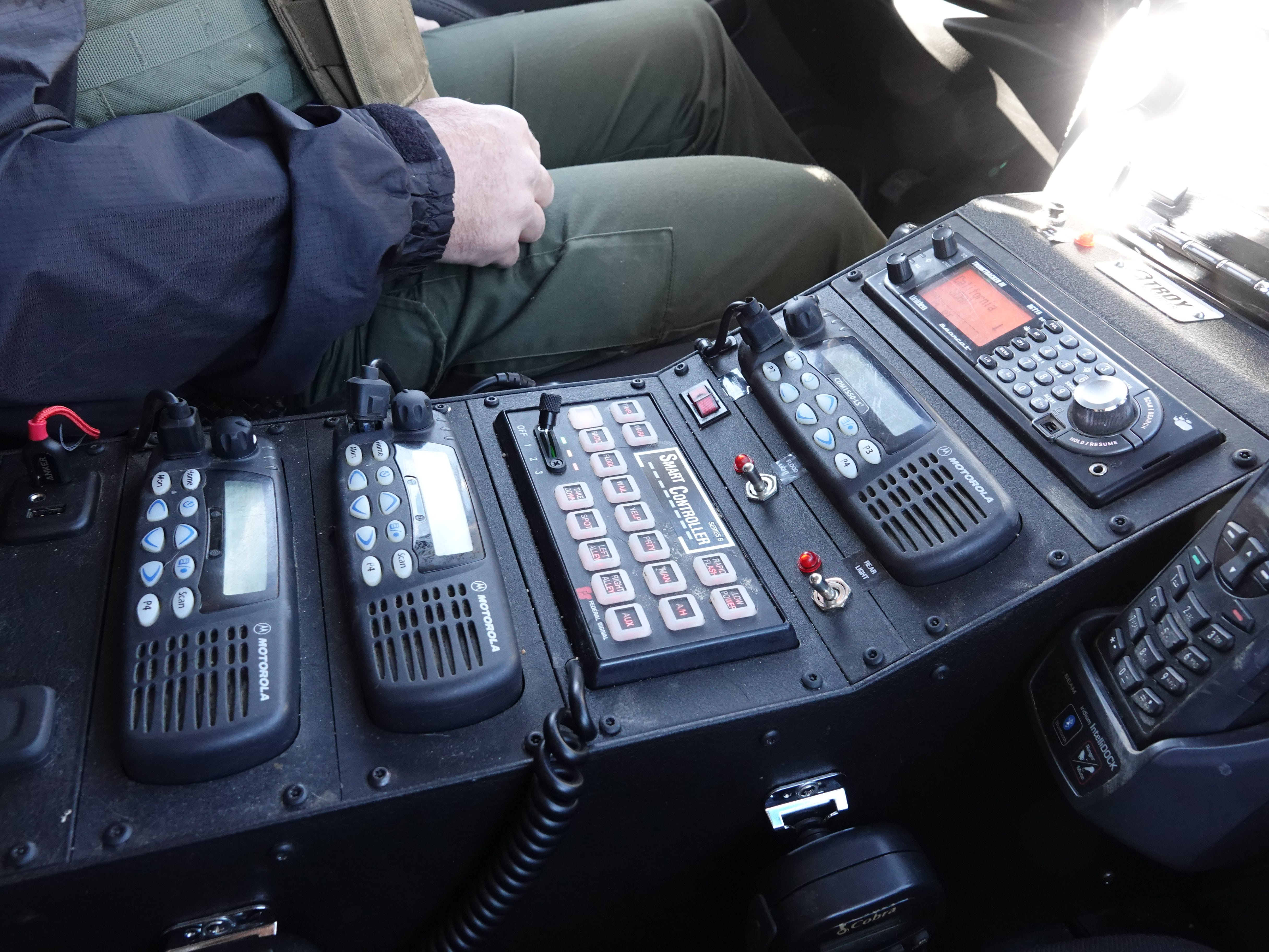 Three radios, a scanner and a satellite phone equip patrol cars at the Ventura County sheriff's remote Lockwood Valley substation. Two deputies in charge of 610 square miles of rugged terrain must communicate with agencies in Kern, Los Angeles and Santa Barbara counties.