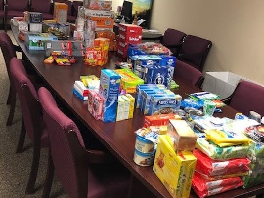 Eye Associates and the SurgiCenter of Vineland recently organized a collection of items to be sent overseas to a military troop in Kuwait.