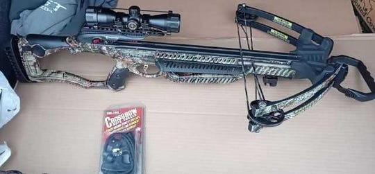 Crime Stoppers is asking for your help to find the person who broke into and stole items, such as this Barnett Whitetail Hunter Crossbow, from a locked vehicle on Nov. 29, in the township of Guenther. The crossbow was camo, with an optic, which came standard with the Barnett Whitetail Hunter.