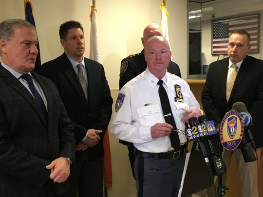 John Hodges, chief of investigative services for the Westchester County police, speaks on Dec. 31, 2018, about a fatal hit-and-run in Buchanan.