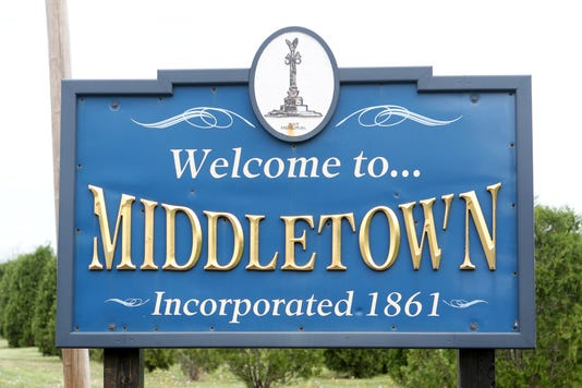 Middletown City Limits Sign
