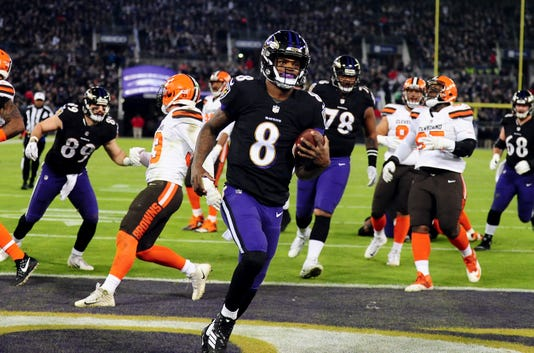 baltimore ravens secure nfl playoff spot by holding on to beat browns