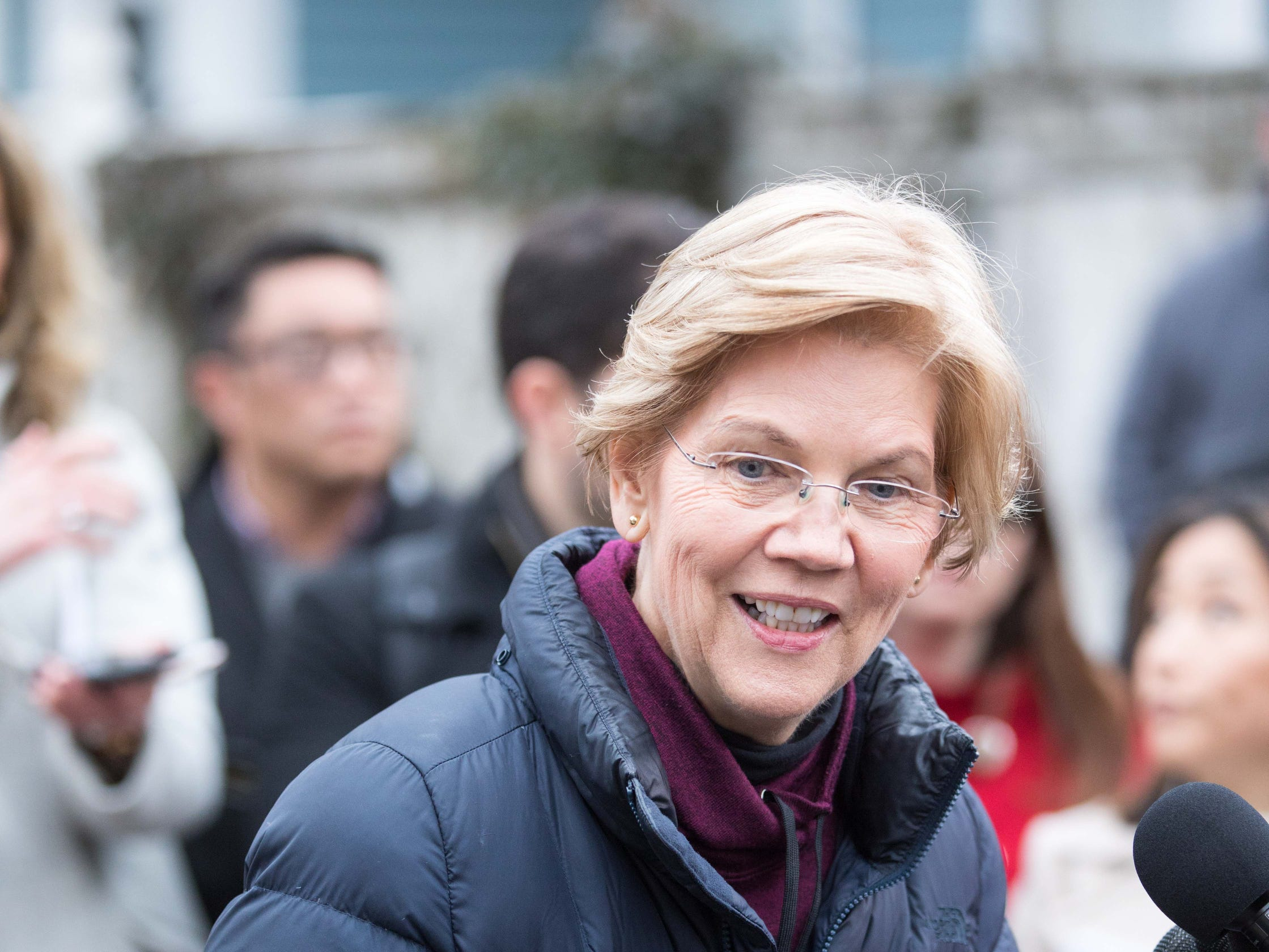 Sen. Elizabeth Warren (D-MA) took the first major step toward launching a widely anticipated campaign for the presidency, hoping her reputation as a populist fighter can help her navigate a Democratic field that could include nearly two dozen candidates.