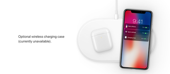 Apple's wireless AirPods charging case.