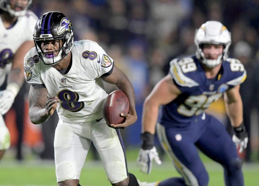 Nfl Baltimore Ravens At Los Angeles Chargers