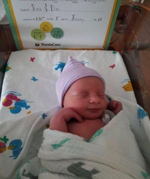 Grayson James was the first baby born in ThedaCare's hospital system in 2019.