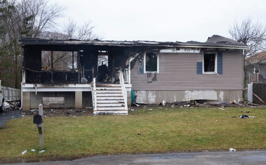 House on 15th Street in Toms River was damaged in fire New Year's Day.