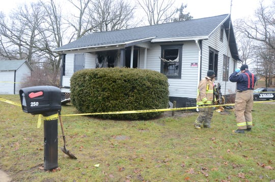 Police said a man was shot and killed and then his house set on fire just after midnight on New Year's Day.