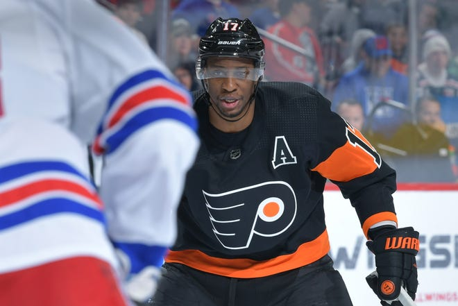 Wayne Simmonds entered 2019 third on the Flyers in goals and with an uncertain future.