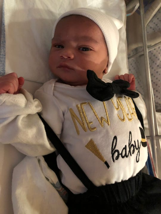 Second baby to make an appearance, a boy — Joshua R. Suarez-Jimenez — weighing 8 lbs, 3 oz. and 21 and 1/2 inches long was born at 2:29 a.m. to Yovanny Jimenez-Corcino of North Brunswick at Saint Peter's University Hospital in New Brunswick.
