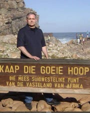 Paul N. Whelan, 48, of Novi was arrested Dec. 28, 2018, by the Russian government and accused of espionage. His family insists he's innocent, saying he is a world traveler and was detained by mistake. In this undated photograph, Paul Whelan is seen at the Cape of Good Hope in South Africa.