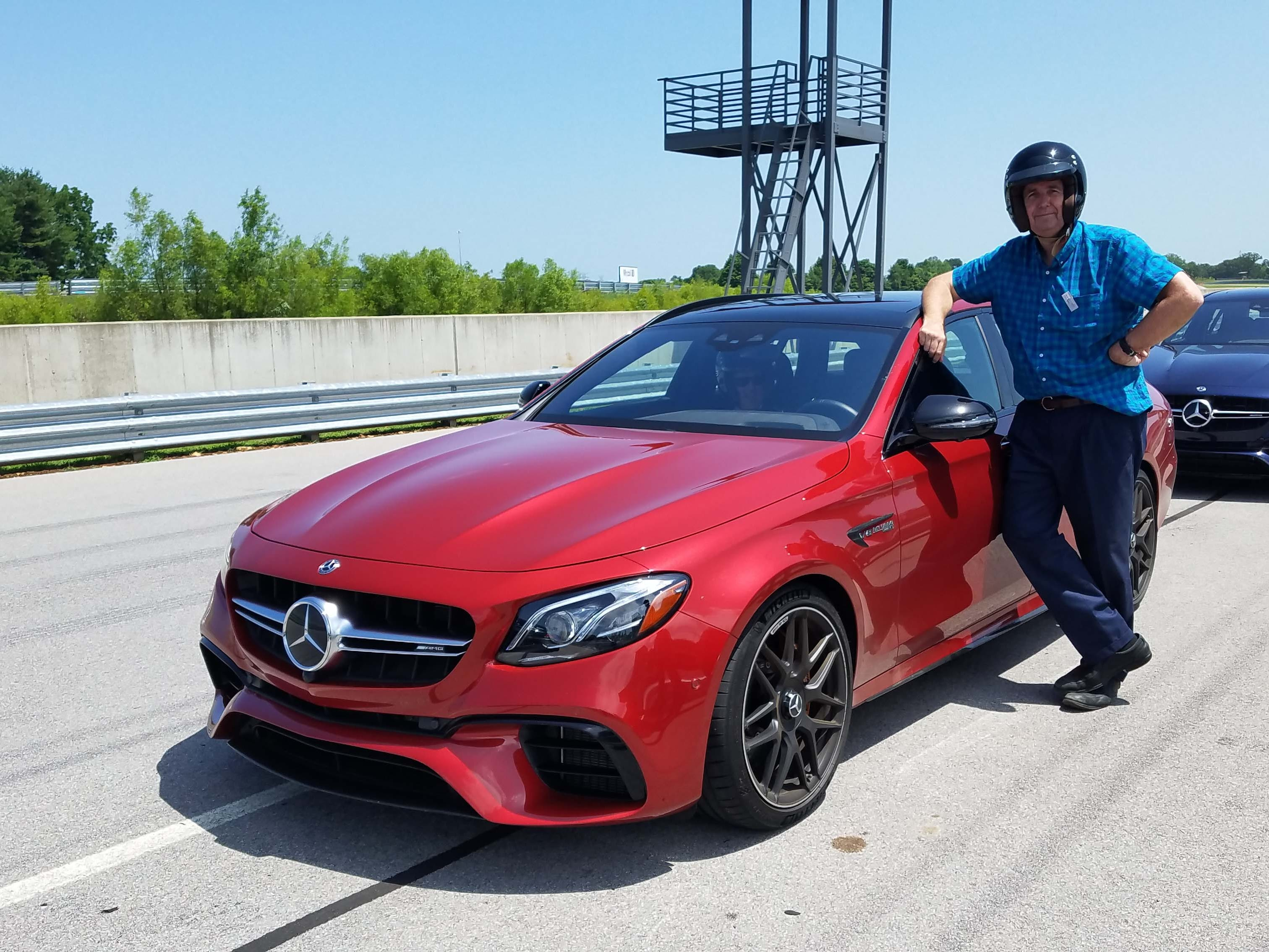 Detroit News auto critic Henry Payne took the Mercedes-AMG E63 S wagon out for some hot laps around the National Corvette Museum test track.