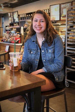 Alyssa LaTray pictured at a local Starbucks