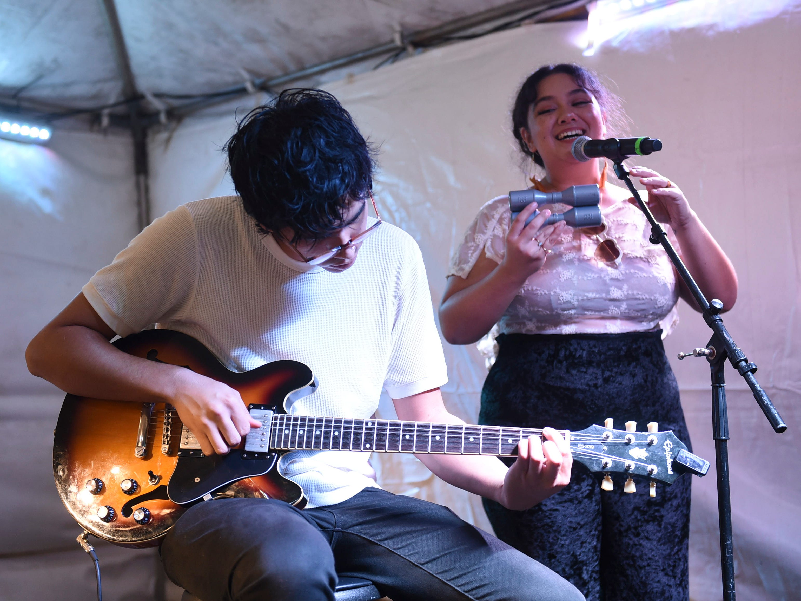 Musical entertainment is provided by local performers during New Year's Eve at the Gov. Joseph Flores Beach Park on Dec. 31, 2018.