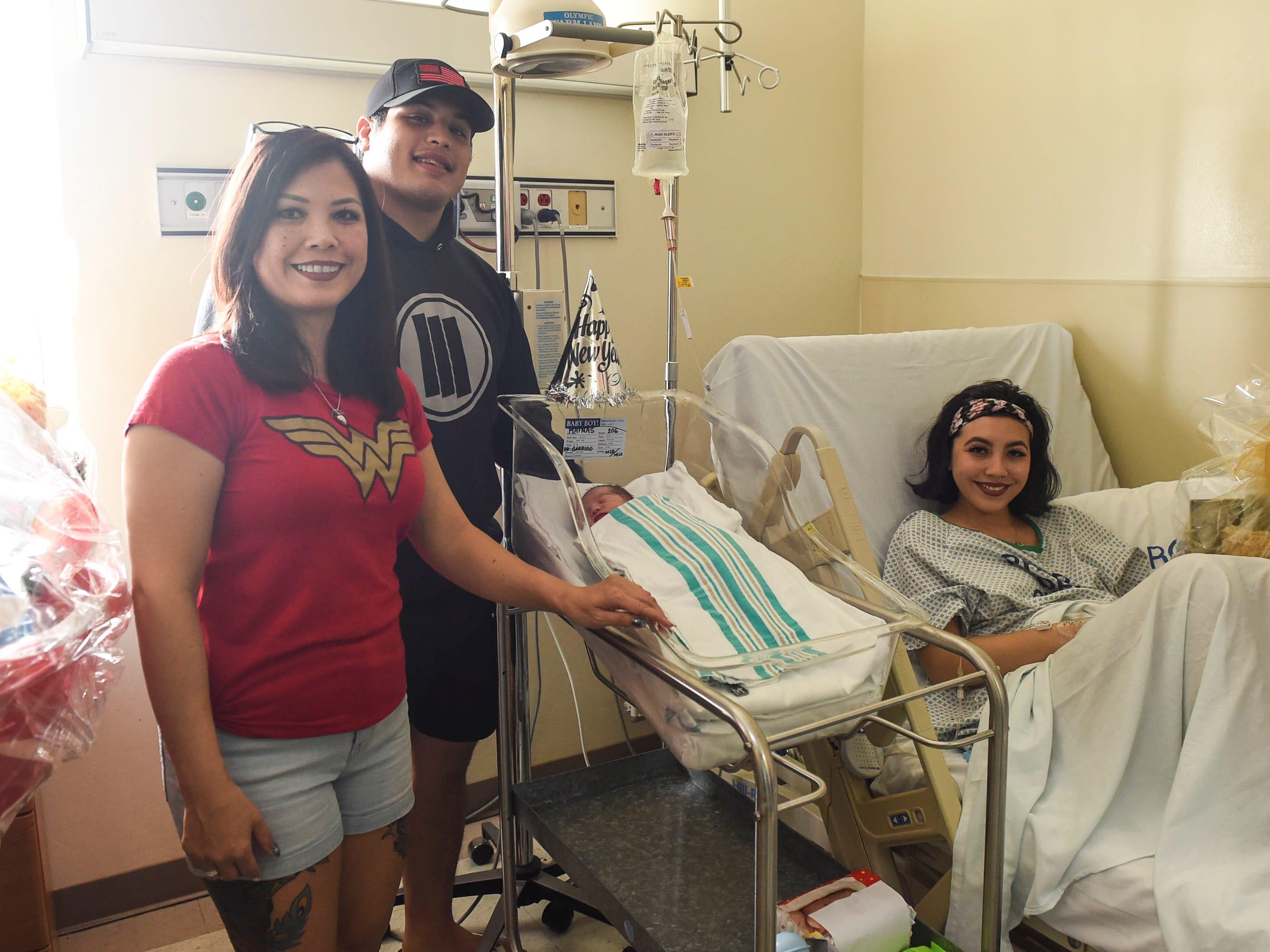 The Mafnas family welcomed their newborn baby, Malakai, at Guam Memorial Hospital in Tamuning on Jan. 1, 2019. From left: Darlene Garcia, Kyle Mafnas, Malakai Mafnas, and Desirae Mafnas.