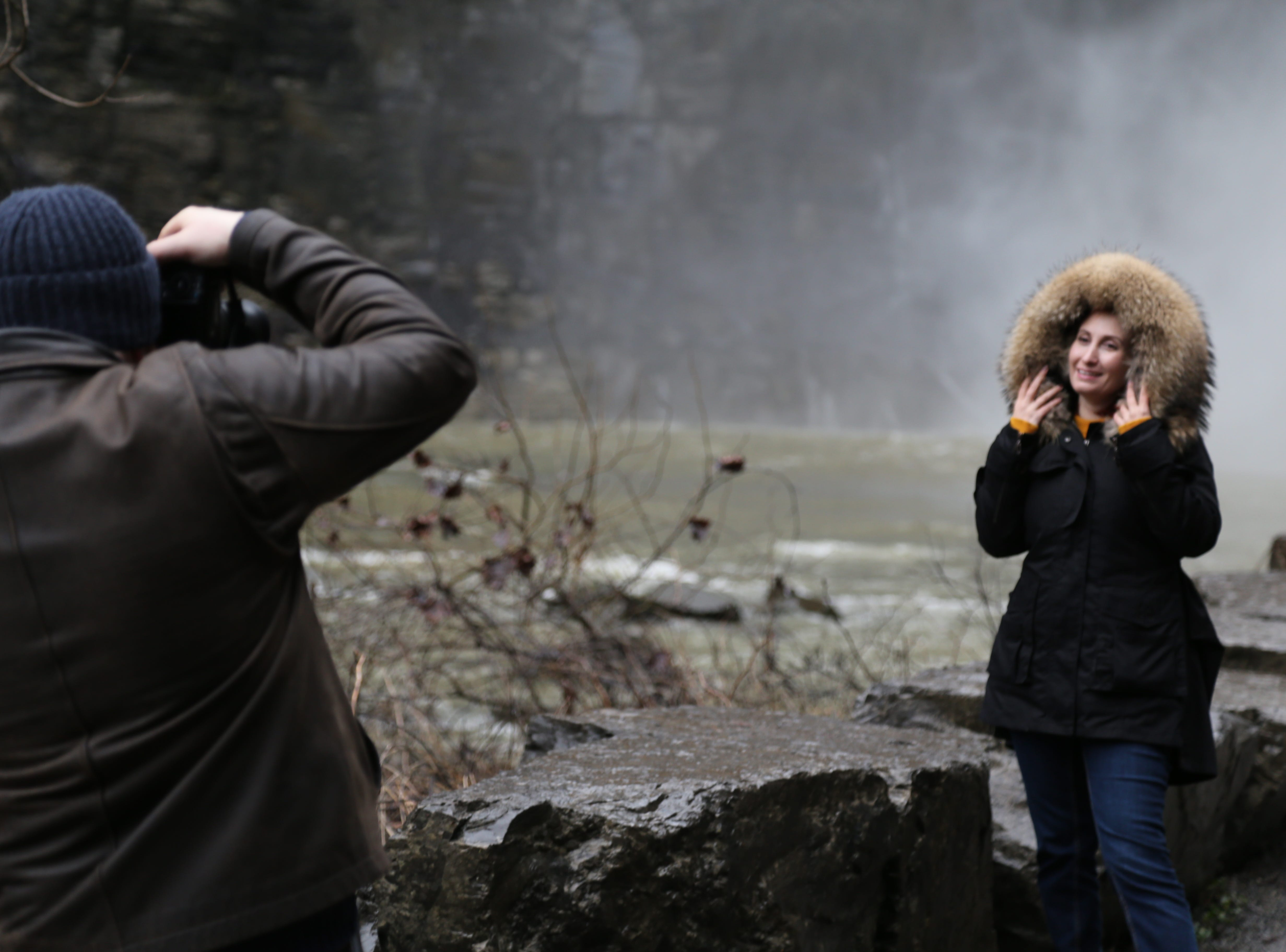 People hiked the gorge trail during the 2019 First Day Hike at Taughannock Falls State Park. The local First Day Hike is one of the largest events of its kind in the country.