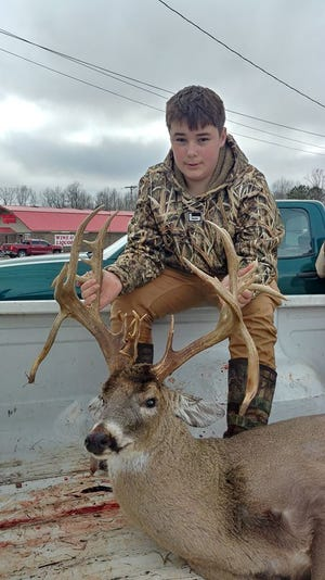 Ezell's deer was officially recorded by TWRA officials in Benton County as having 27 points.
