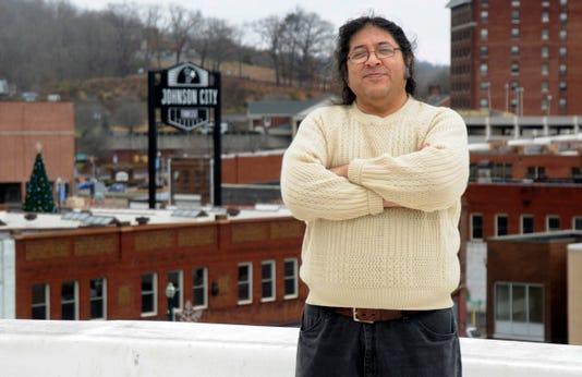 Herman Garcia poses in downtown Johnson City, Tenn.