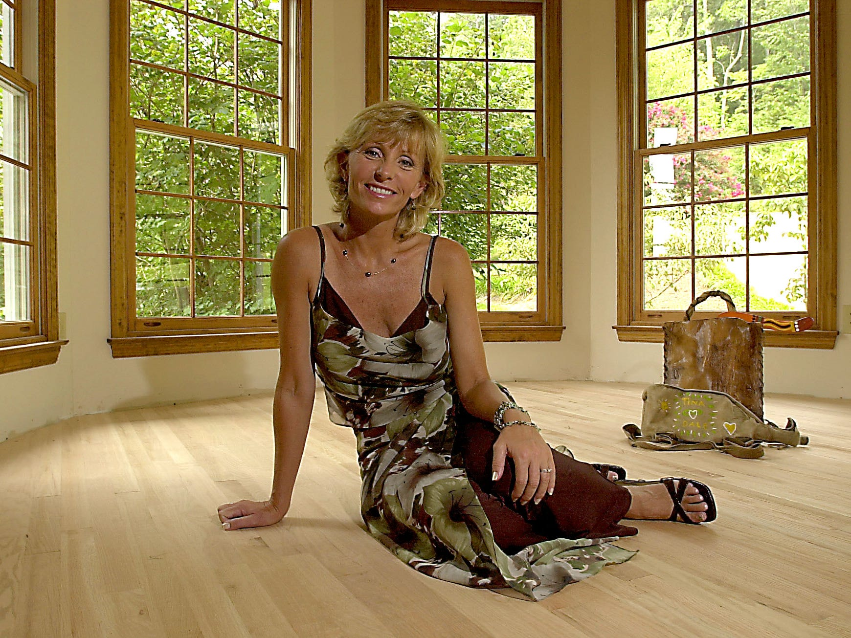 Tina Wesson, a cast member of the Survivor reality TV show, is pictured during a fashion shoot on Aug. 16, 2001, at her Fountain City home.