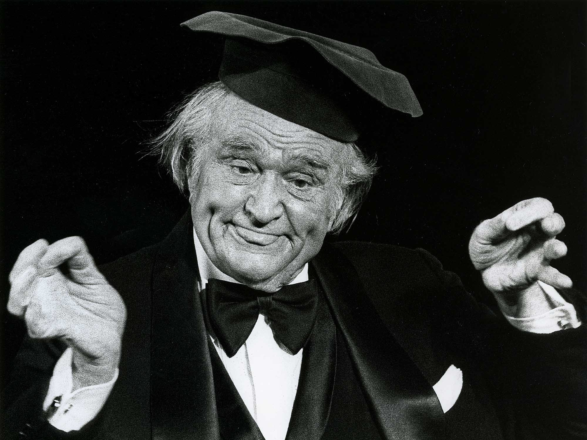 Red Skelton during a performance as Little Boy at the Fishing Pond during the 1982World's Fair in Knoxville.