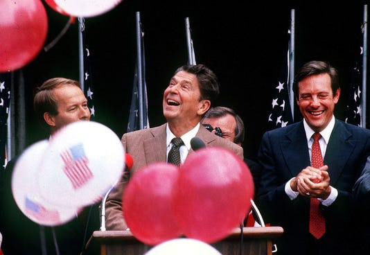 President Reagan Opens Worlds Fair 1982