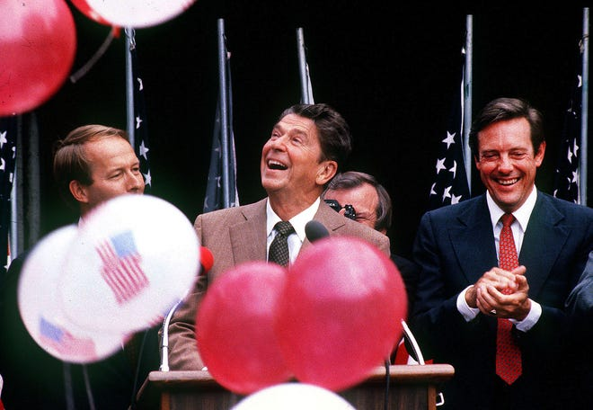 President Ronald Reagan opening the World's Fair in Knoxville May 1, 1982.