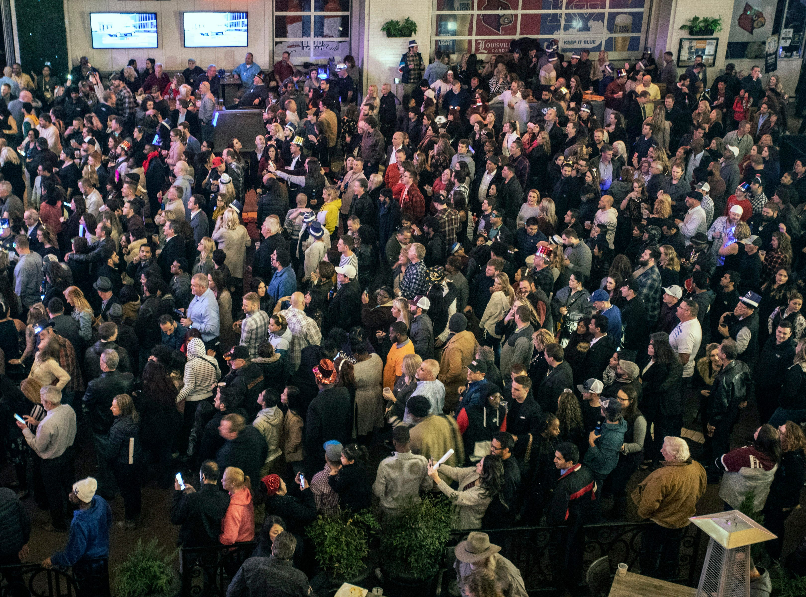 Fourth Street Live was packed with revelers ready to ring in the new year on Monday night. December 31, 2018