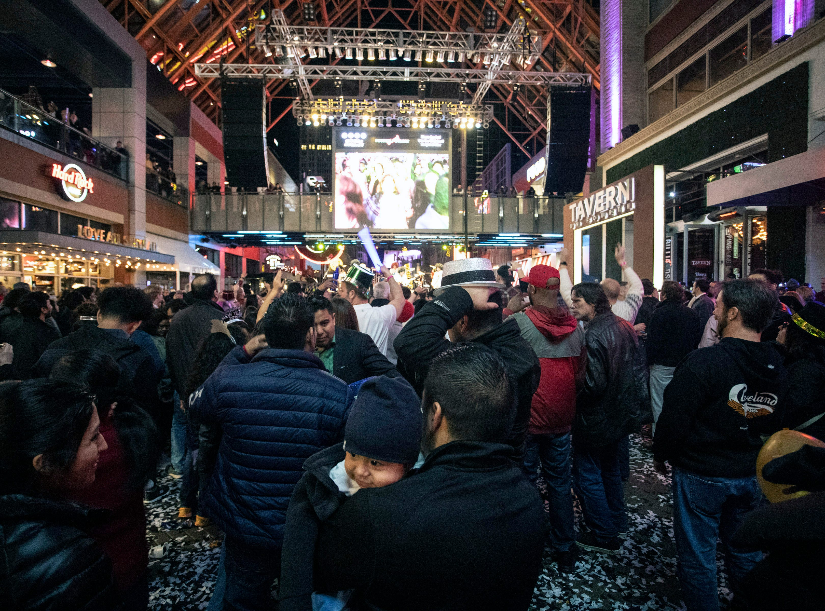 Fans of all ages celebrated the arrival of 2019 together at Fourth Street Live on Monday night. January 1, 2019