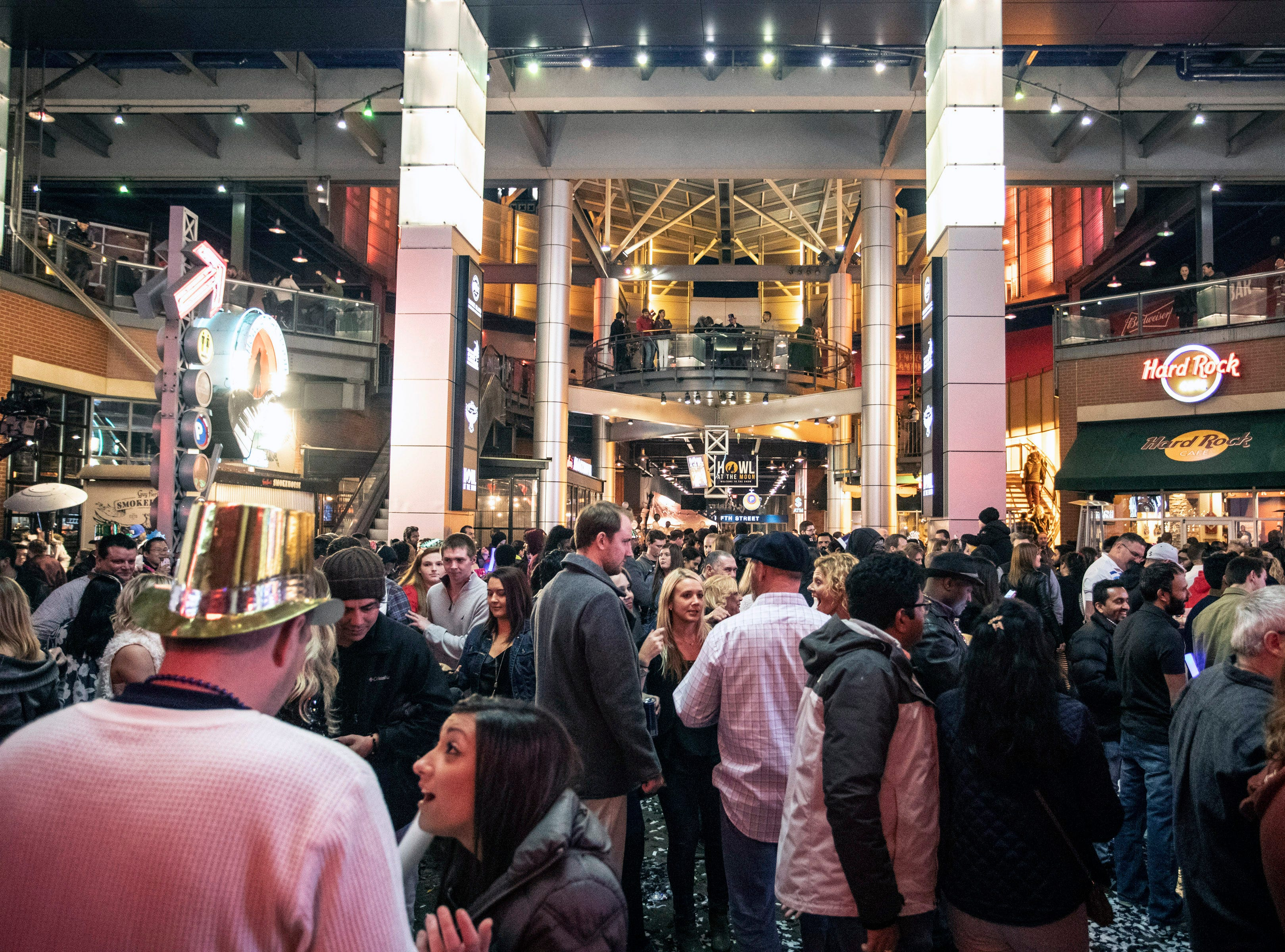 Fourth Street Live was packed with revelers ready to ring in the new year on Monday night. December 31, 2018.