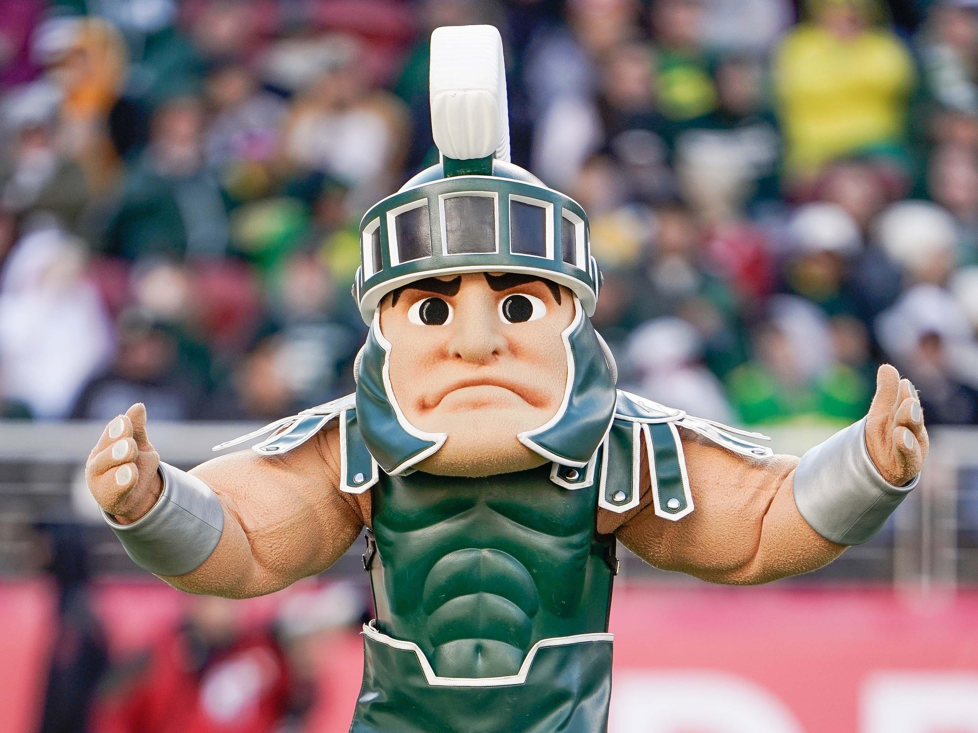 Michigan State Spartans mascot performs during the third quarter against the Oregon Ducks at Levi's Stadium.