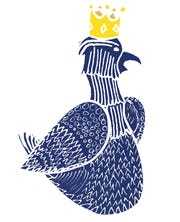 Bar Mitena's logo is inspired from the Eagle of Reus, an important figure in the Summer Festival of Reus, in Catalonia.