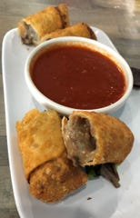 Philly cheesesteak eggrolls at the Marco Island Brewery.