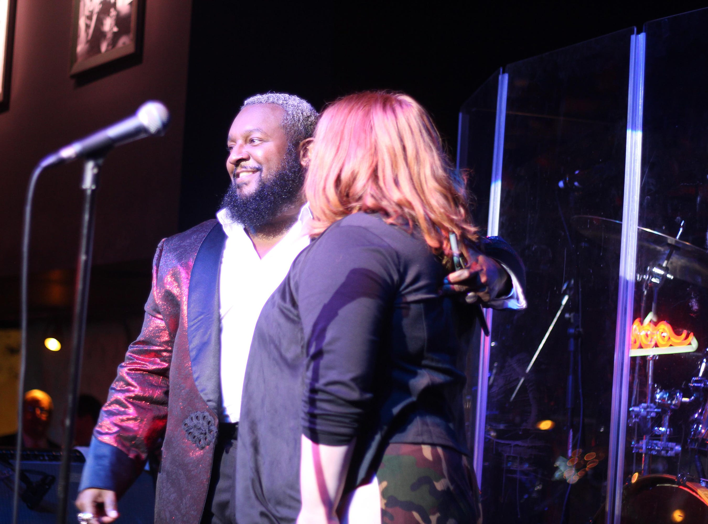 """Patrique Fortson, left, and MaKenzie Thomas, from season 15 of NBC's """"The Voice,"""" joined top 3 finalist Kirk Jay, a Montgomery resident and Bay Minette native, in a New Year's Eve concert Monday, Dec. 31, 2018, at B.B. King's Blues Club in Montgomery."""