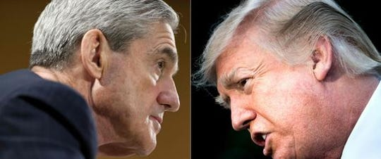 Robert Mueller and Donald Trump