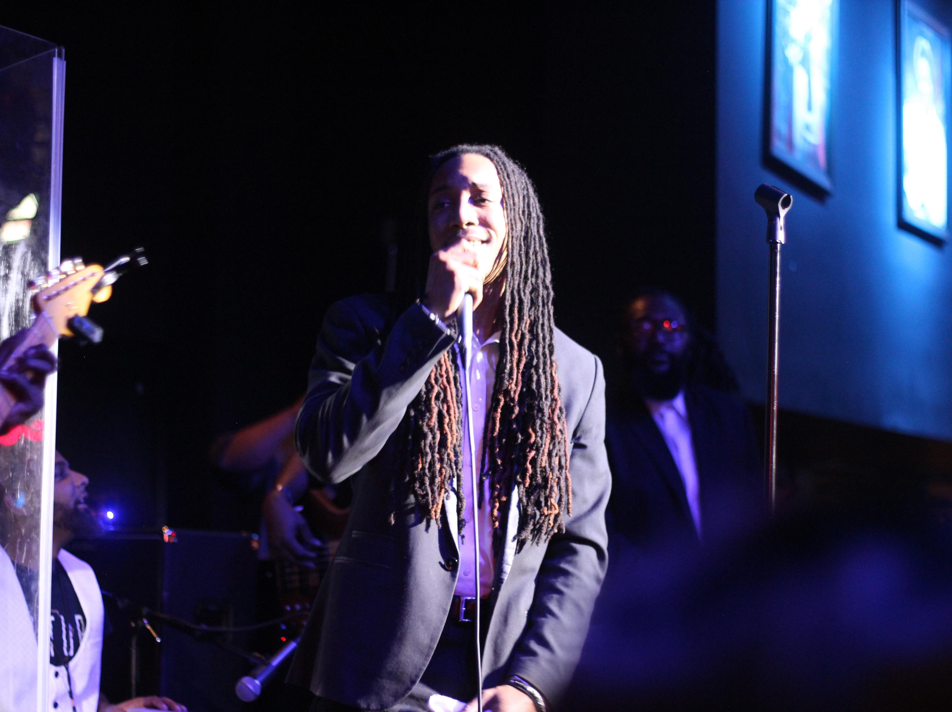"""""""The Voice"""" top 3 finalist Kirk Jay's band Kuntry Funk in a New Year's Eve concert Monday, Dec. 31, 2018, at B.B. King's Blues Club in Montgomery."""