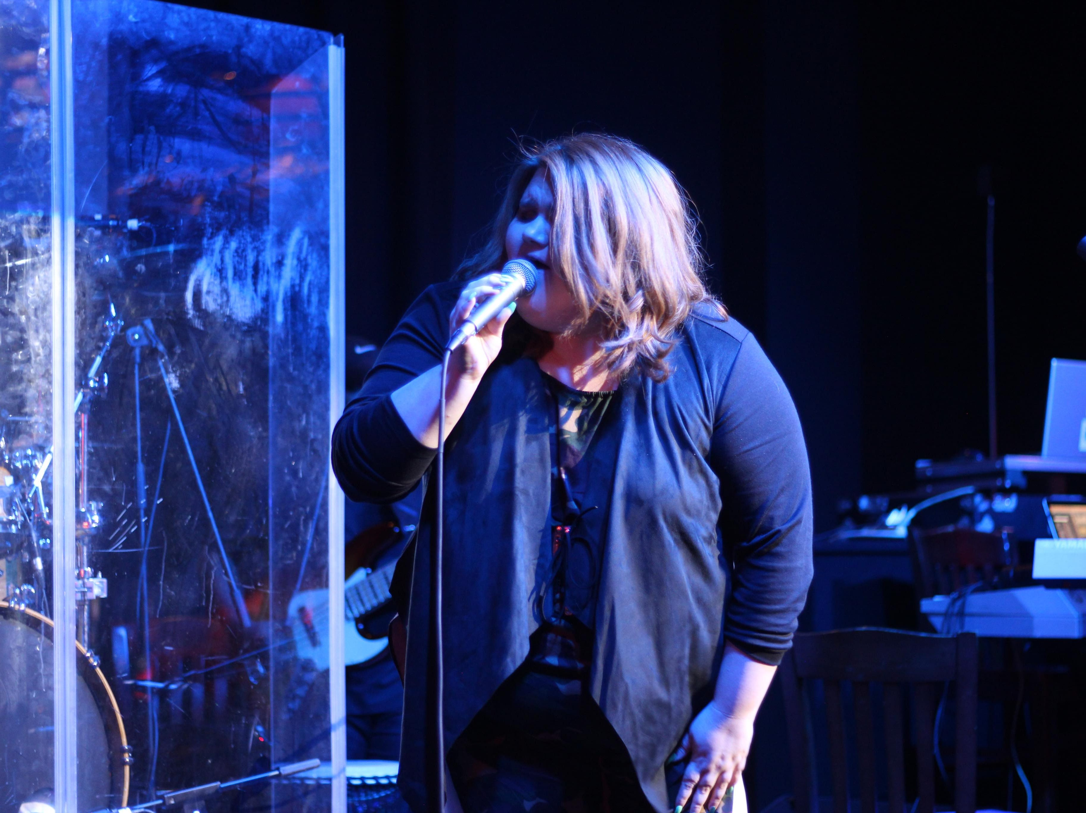 """MaKenzie Thomas, from season 15 of NBC's """"The Voice,"""" joined top 3 finalist Kirk Jay, a Montgomery resident and Bay Minette native, in a New Year's Eve concert Monday, Dec. 31, 2018, at B.B. King's Blues Club in Montgomery."""