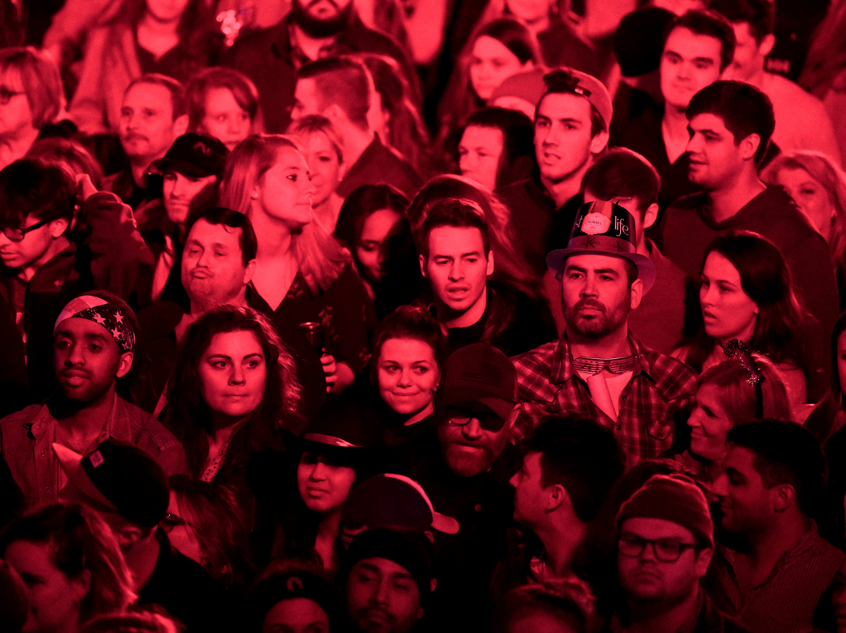 Fans watch as Judah and the Lion perform during the Jack Daniel's Music City Midnight: New Year's Eve event at Bicentennial Capitol Mall State Park in Nashville, Tenn., Monday, Dec. 31, 2018.