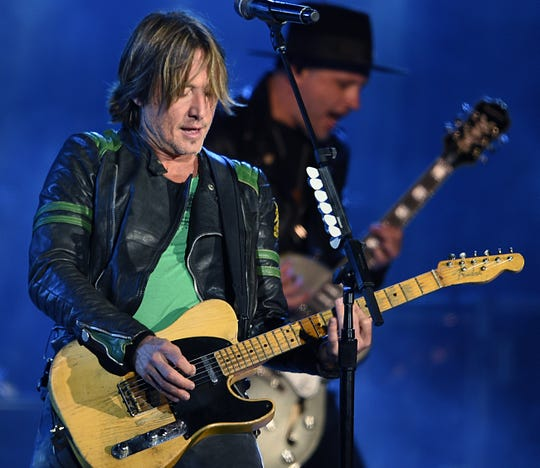 Keith Urban performs during Nashville's New Year's Eve celebration Dec. 31.