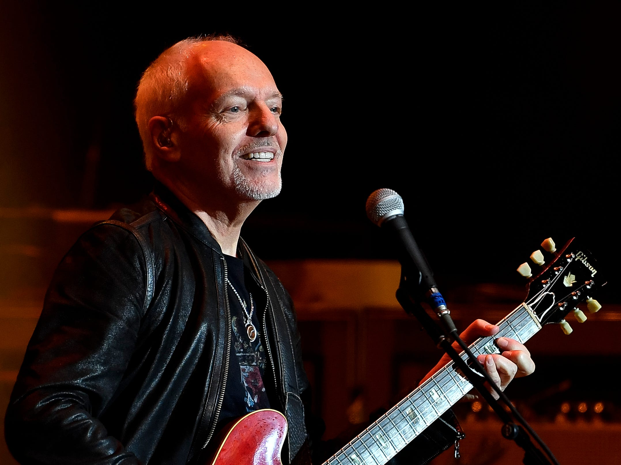 Peter Frampton performs during the Jack Daniel's Music City Midnight: New Year's Eve event at Bicentennial Capitol Mall State Park in Nashville, Tenn., Monday, Dec. 31, 2018.