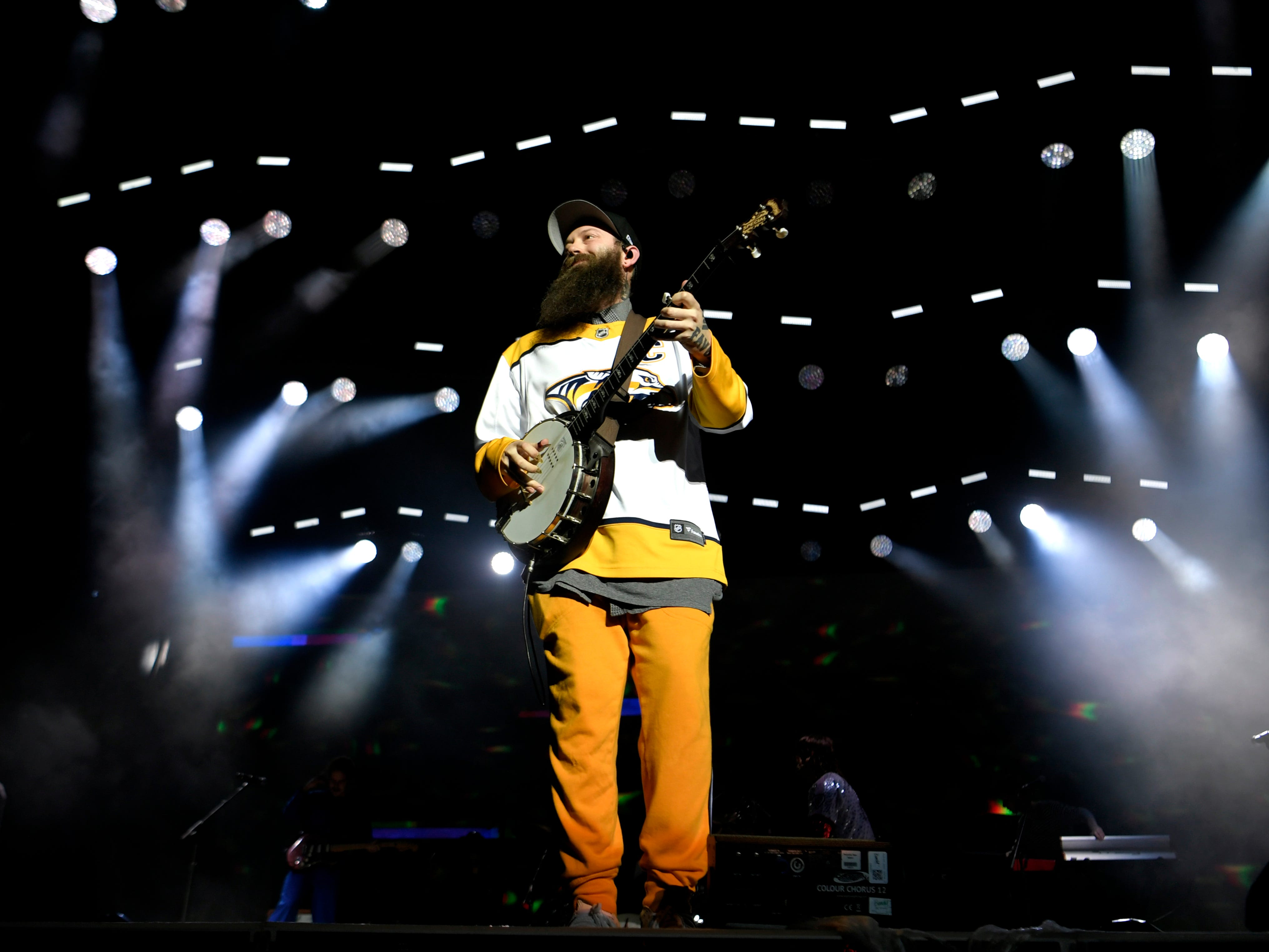 Judah & the Lion performs during Jack Daniel's Music City Midnight: New Year's Eve at Bicentennial Capitol Mall State Park in  Nashville on Monday, Dec. 31, 2018.