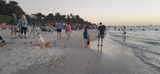 Thousands gathered Monday, Dec. 31, 2018, near the Naples Pier to celebrate the last day of 2018 to be with family and friends and enjoy the evening fireworks show display.