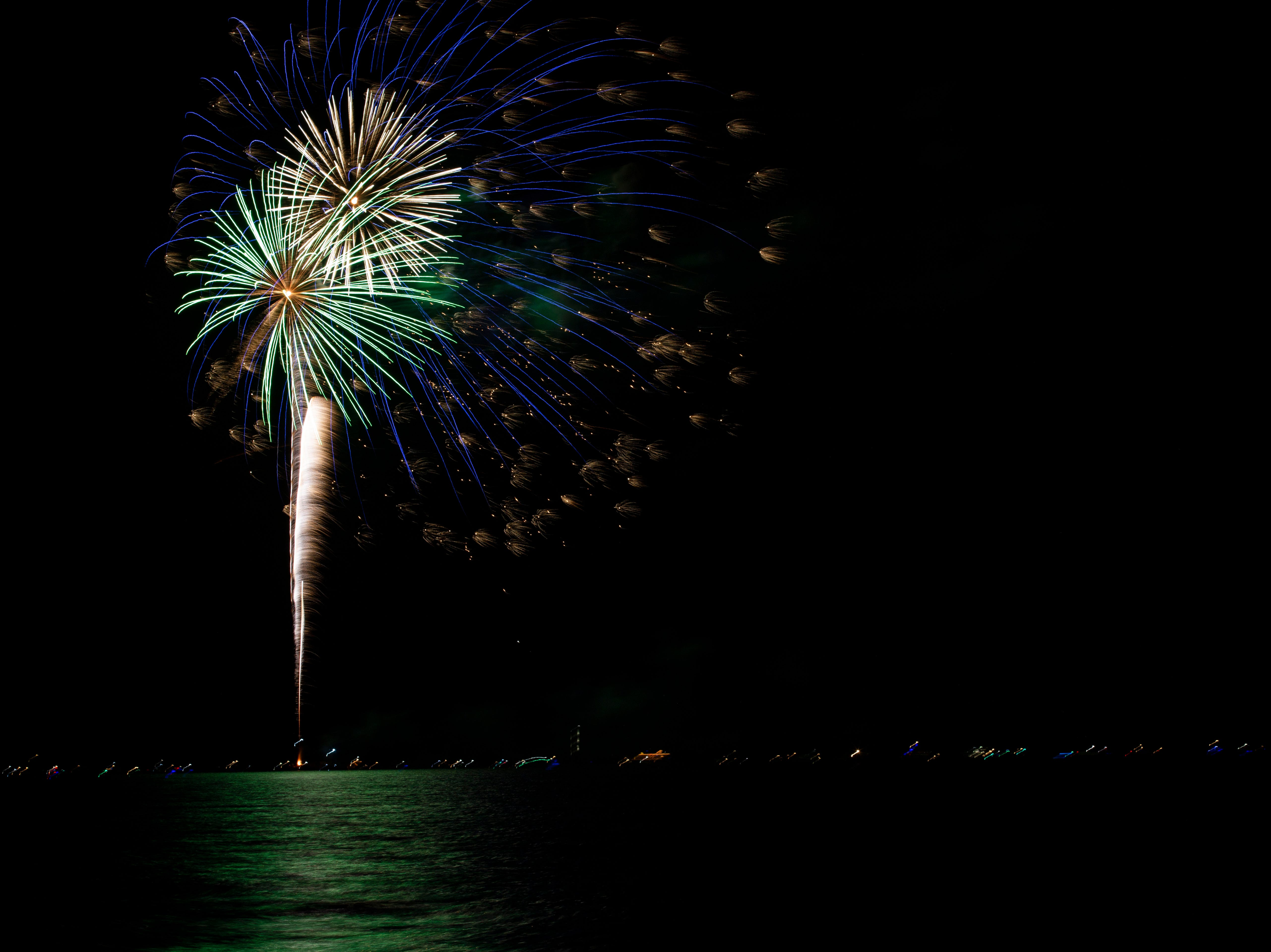 The City of Naples put on a half hour New Year's Eve firework display for thousands of people who gathered at the Naples Pier on Monday, Dec. 31, 2018.