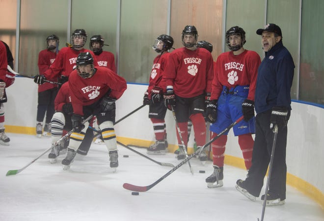 In this Dec., 27, 2015 picture, the Frisch School practices at Mackay Park in Englewood. Now, in its fourth season as a program, Frisch took on Bergen County teams for the first time: losing to Pascack Valley/Pascack Hills, tying Tenafly and defeating Ramapo for their first-ever win over a Bergen County team.