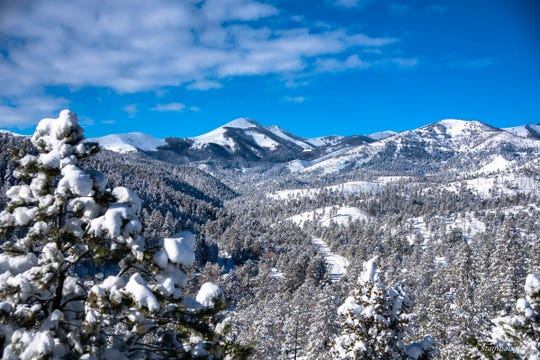 Sierra Blanca Peak was crowned in snow. after Christmas.