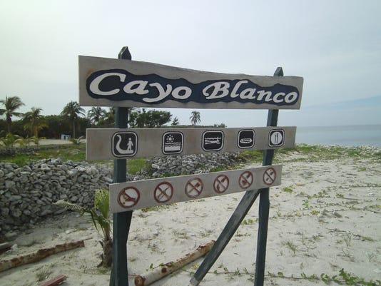 Cayo Blanco Cuba Sign